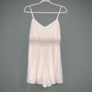 Altar'd State Ivory Cream White Lace Romper NWOT